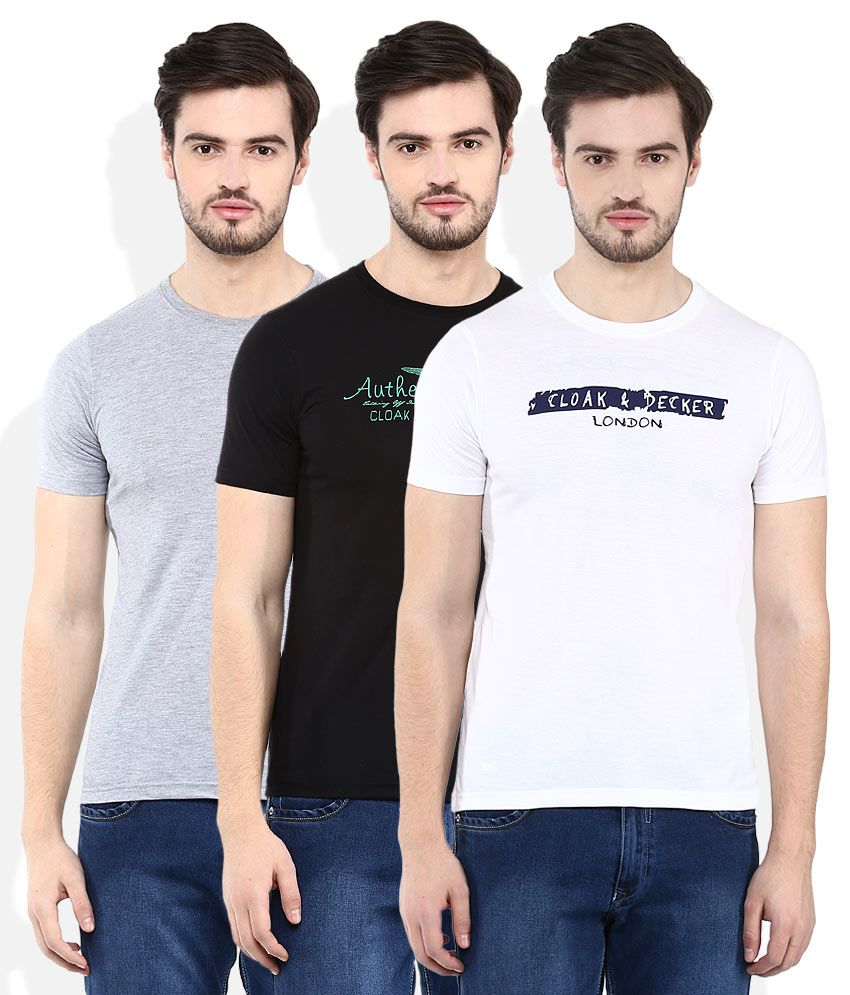Cloak & Decker By Monte Carlo Pack Of 3 T-Shirts