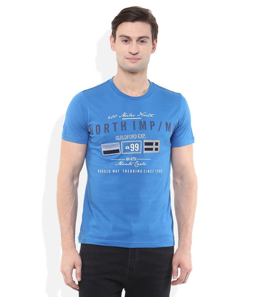 Monte Carlo Blue Printed T-Shirt