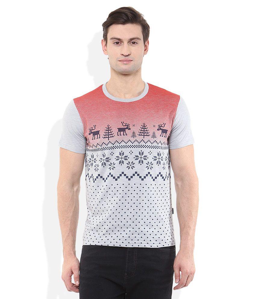 Monte Carlo Grey Printed T-Shirt