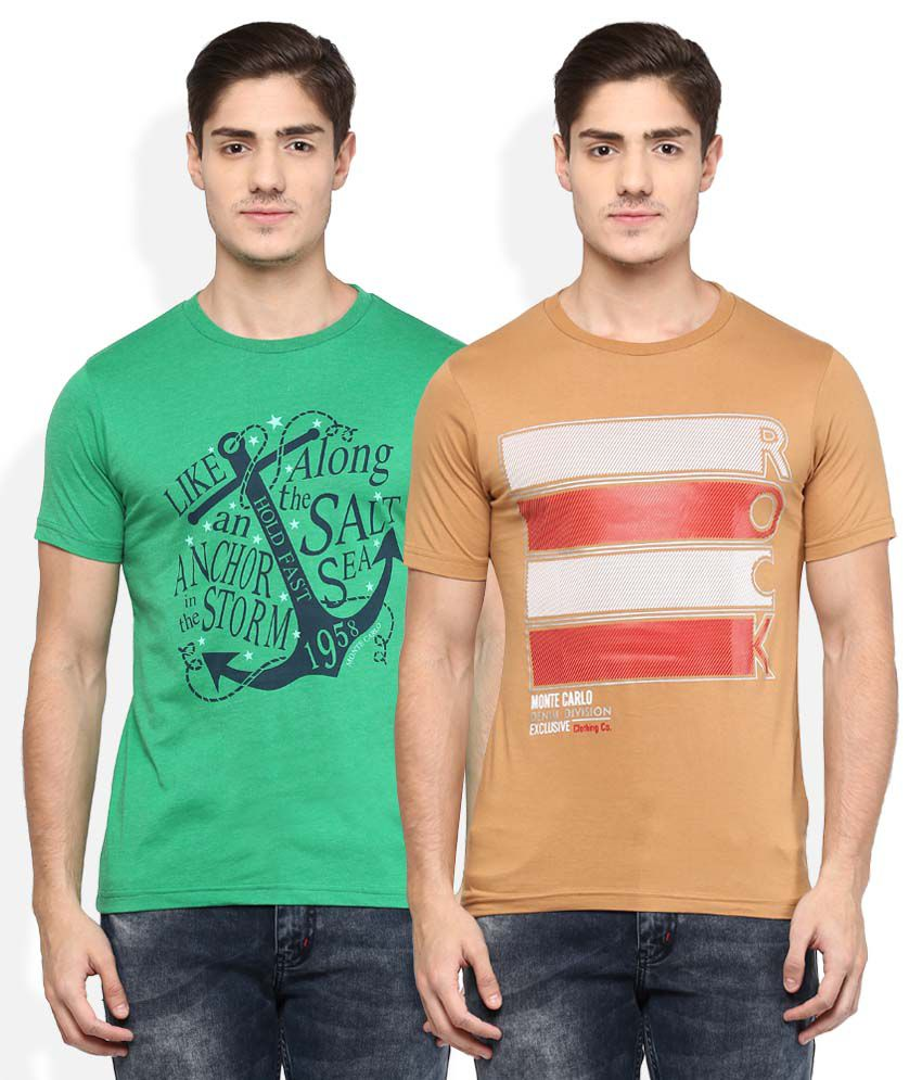 Monte Carlo Pack Of 2 Printed T-Shirts