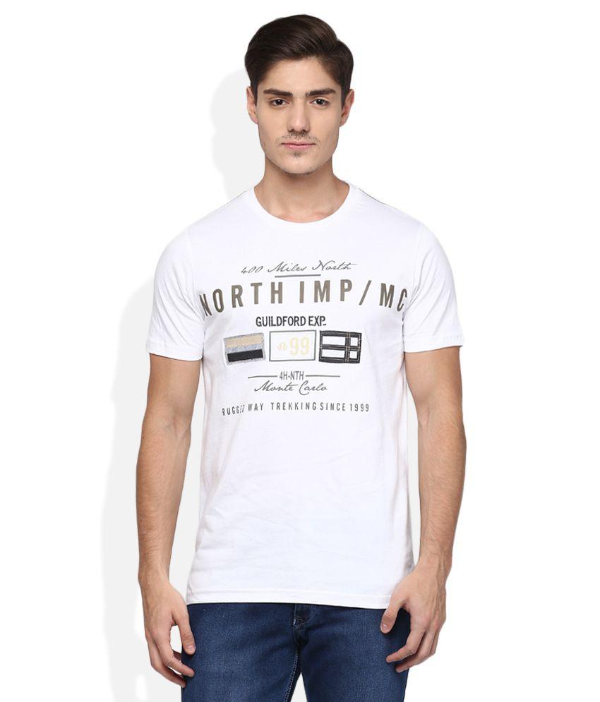 Monte Carlo White Printed T-Shirt