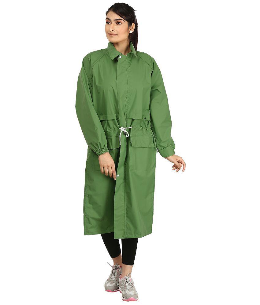 Rainfun Green Solid Women's Raincoat