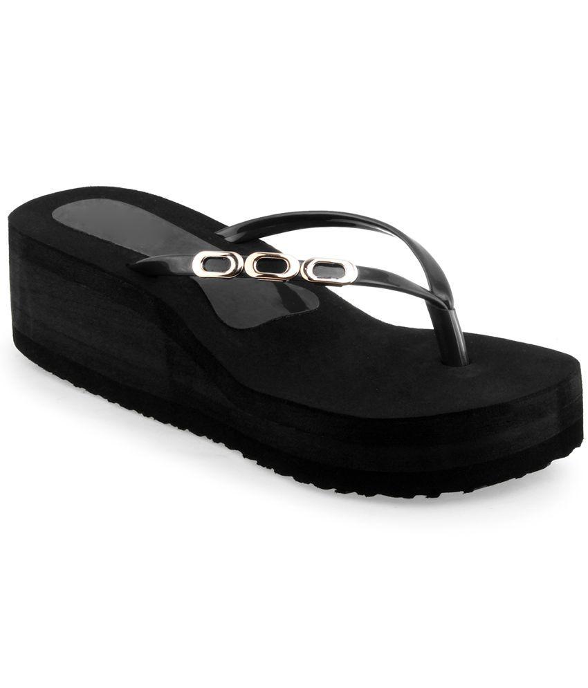 Shoe Lab Black Flip Flops