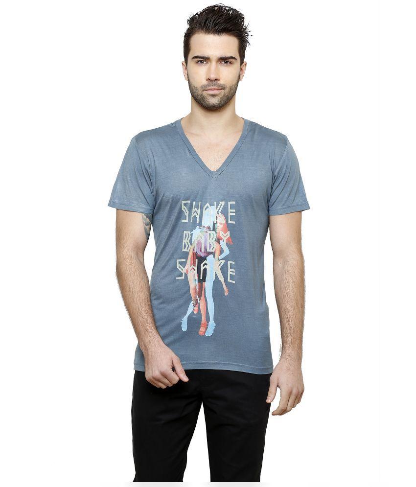 Desinvolt Blue V-Neck T Shirt