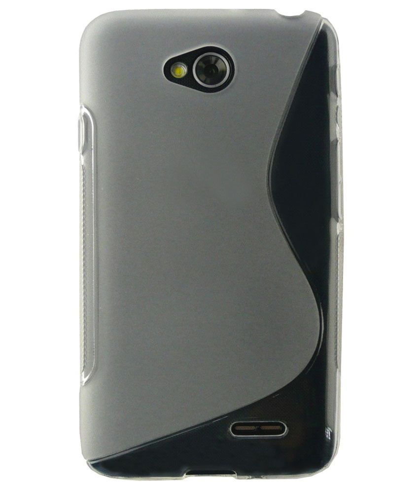 san francisco 3b4b3 2fd84 LG L70 Cover by Emartbuy - Grey - Plain Back Covers Online at Low ...