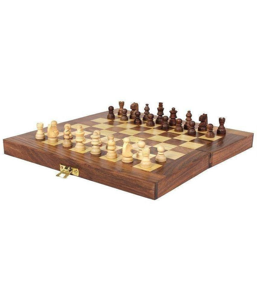 Ambience Wooden Chess Board Set with 32 Playing Pieces