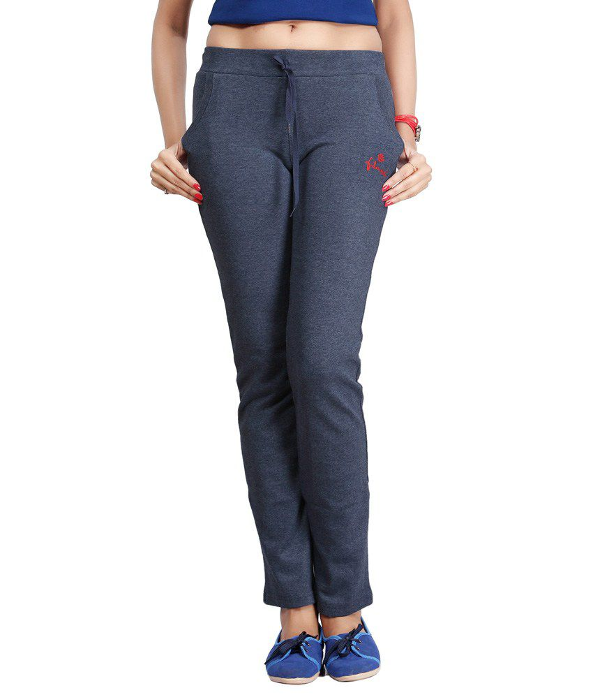 Filmax Originals Women's Sports Gym Yoga Joggers Track Pant - Denim Blue
