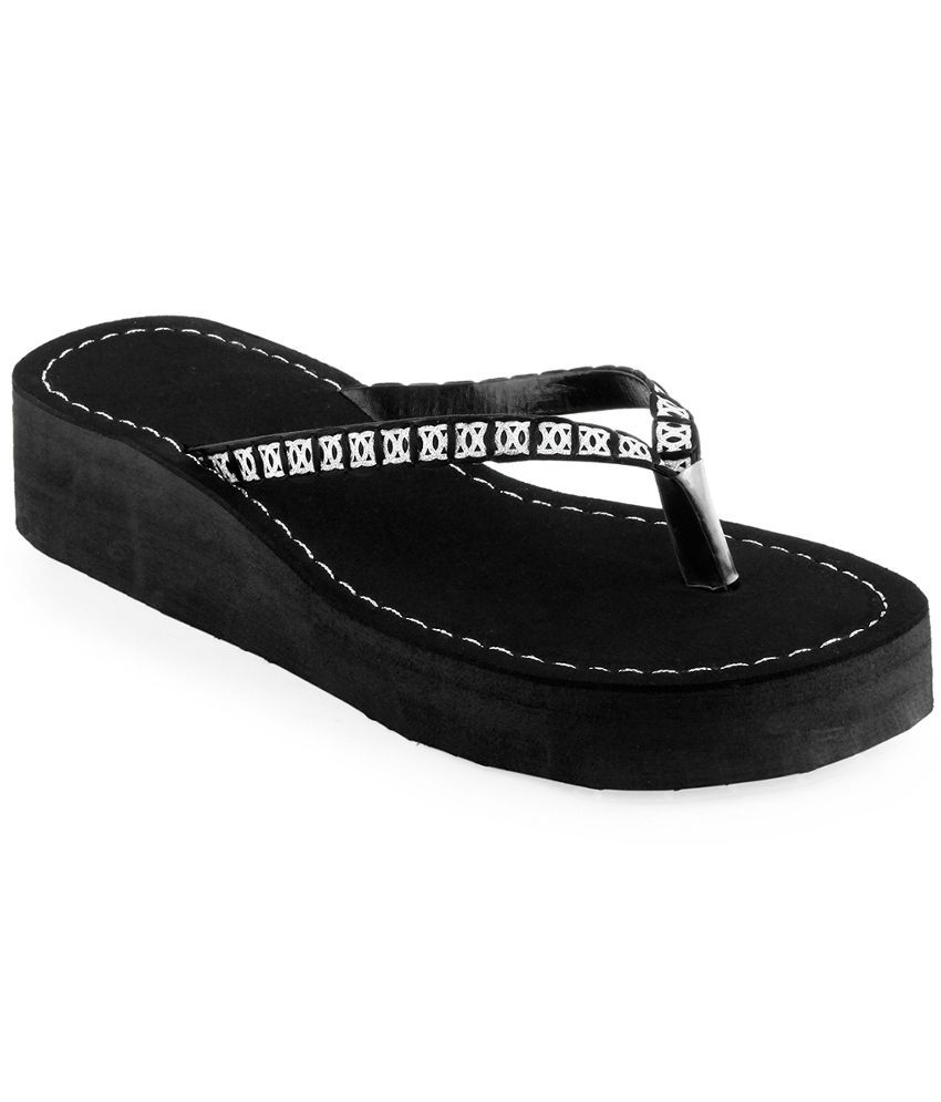 Shoe Lab Black Platforms Heels