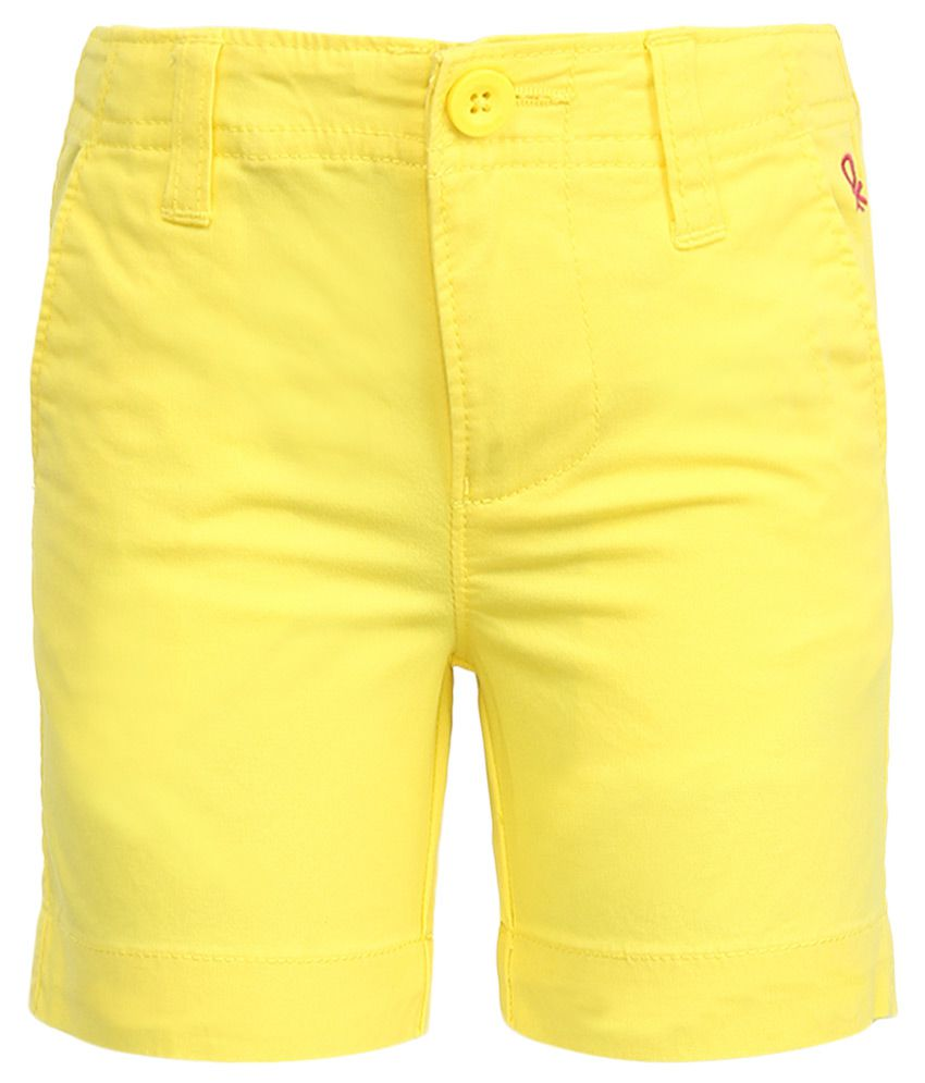 United Colors of Benetton Yellow Shorts
