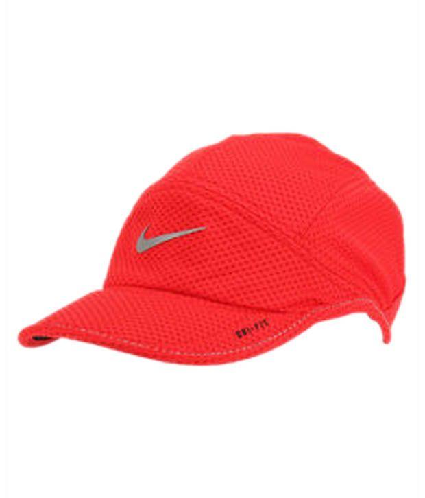 Nike Orange Cotton Baseball Cap