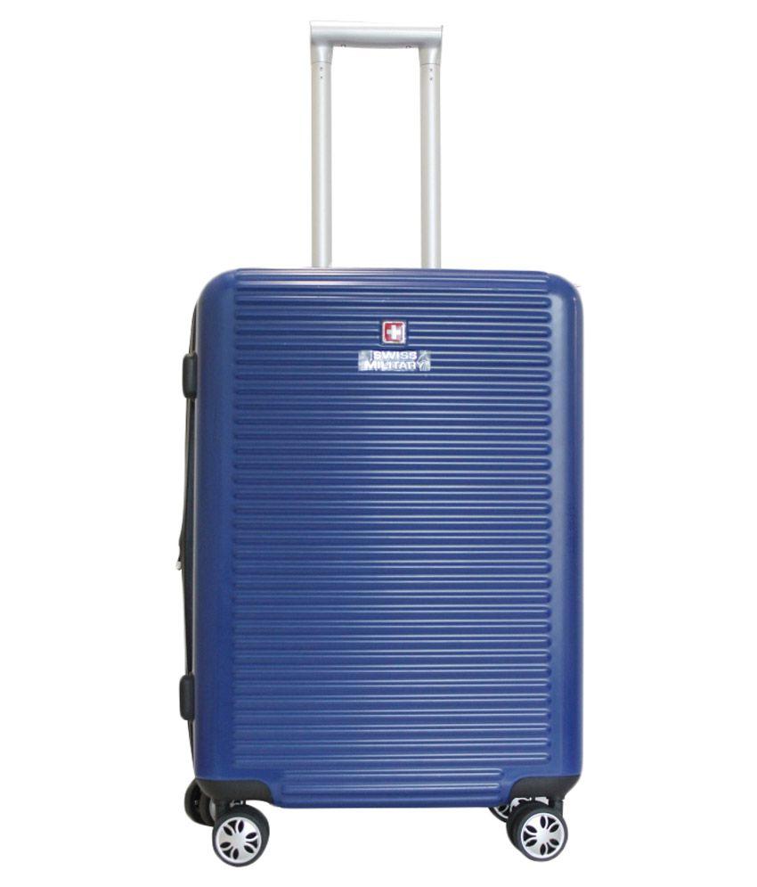 Swiss Military Medium  59 cm  4 Wheel Hard Blue HTL09   Primus International Luggage