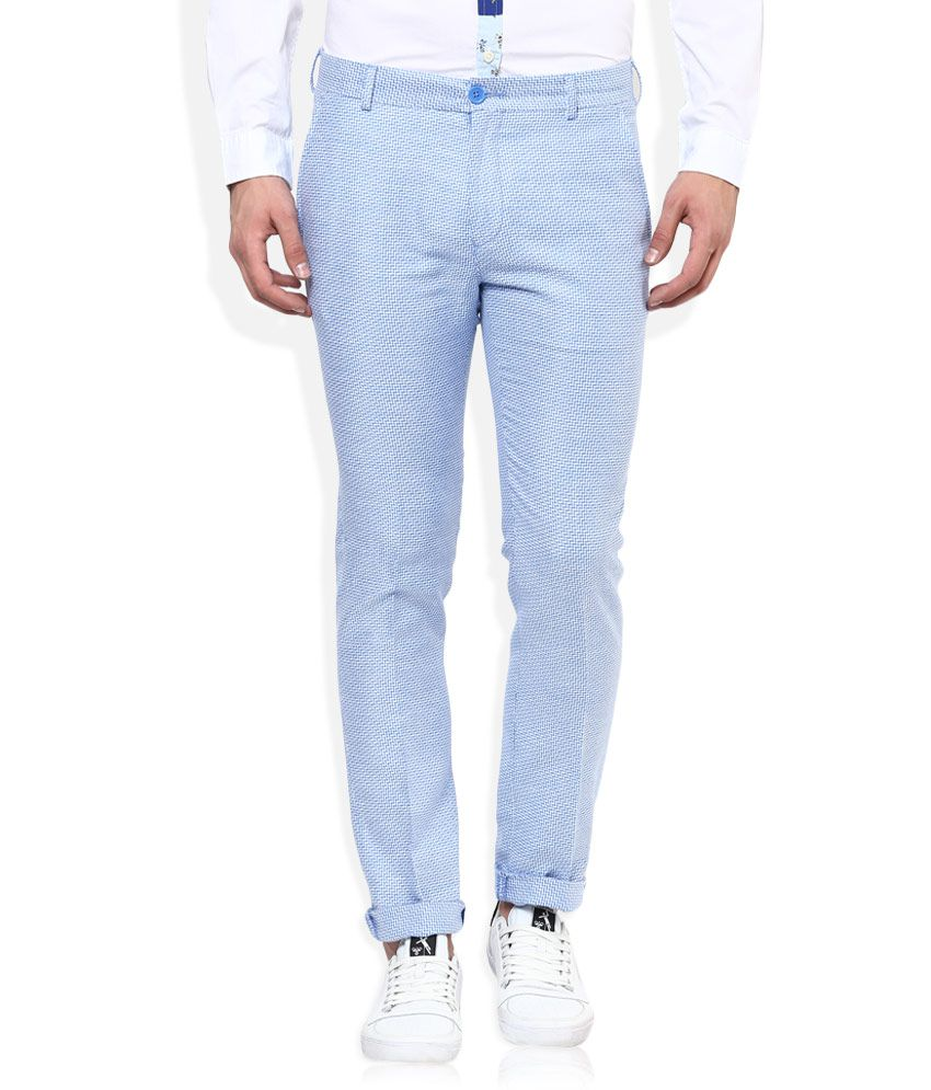 United Colors Of Benetton Blue Slim Fit Trousers