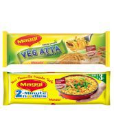 Maggi Masala (Pack of 4) + Maggi Atta Noodles (Pack of 4)