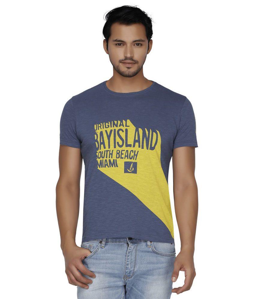 Bay Island Purple Round T Shirt