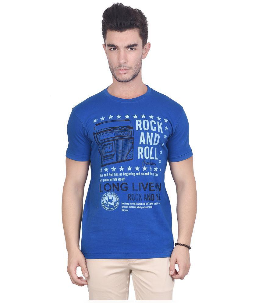 Chevy Blue Round T Shirt