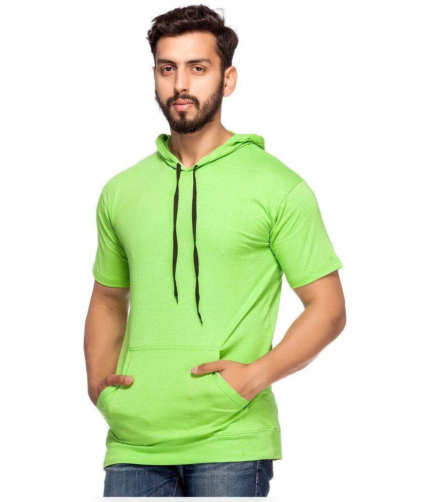 Demokrazy Green Hooded T Shirt