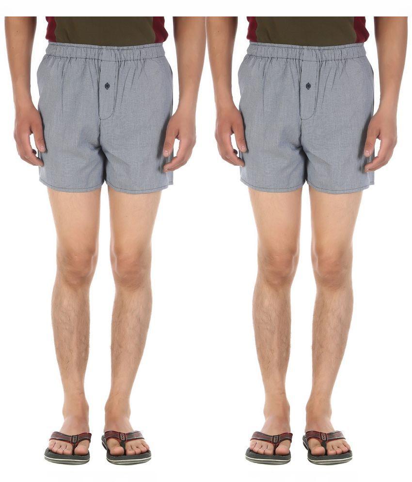 Ewan Grey Shorts Pack of - 2