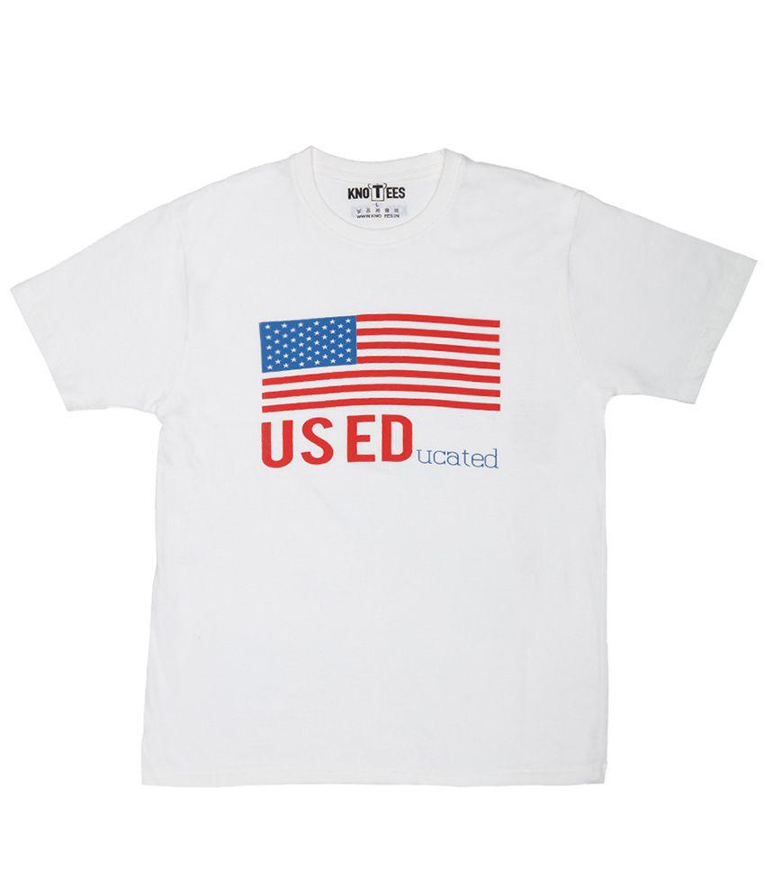 Knotees White Round T Shirt