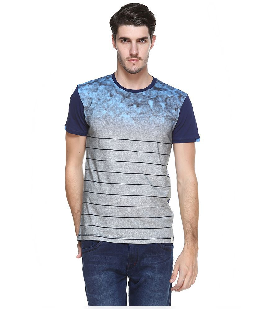 OCTAVE Blue Round T Shirt