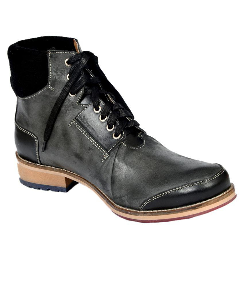 Stylecentrum Black Leather Party Boots