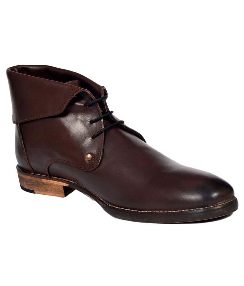 Stylecentrum Brown Leather Party Boots