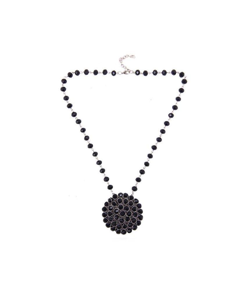 Blingstation Black Glass Necklace