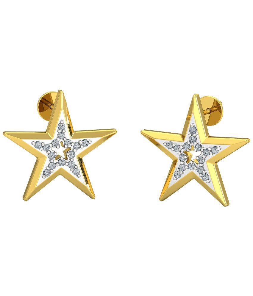 P.N.Gadgil Jewellers 18Kt Gold Diamond Earrings