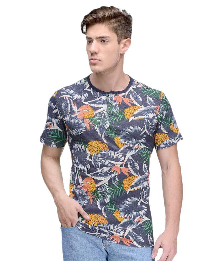 Vicbono Multi Henley T Shirts