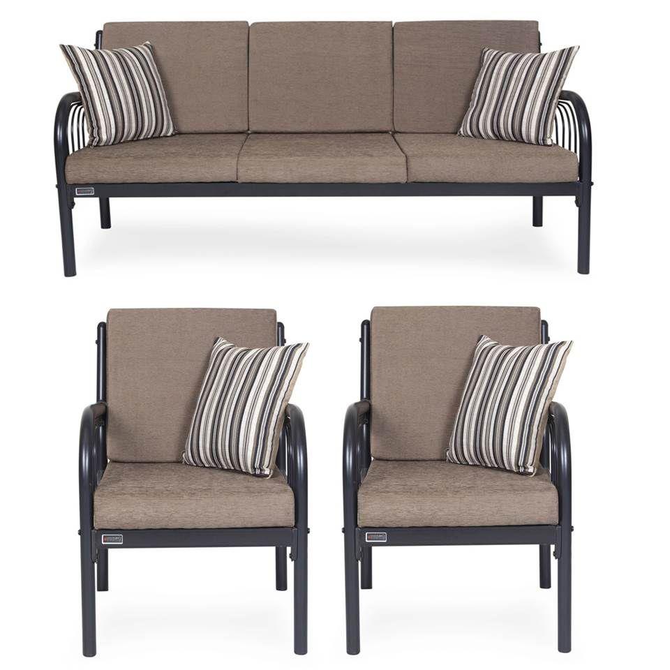 Furniturekraft Metal 3 1 1 Sofa Set Grey Buy