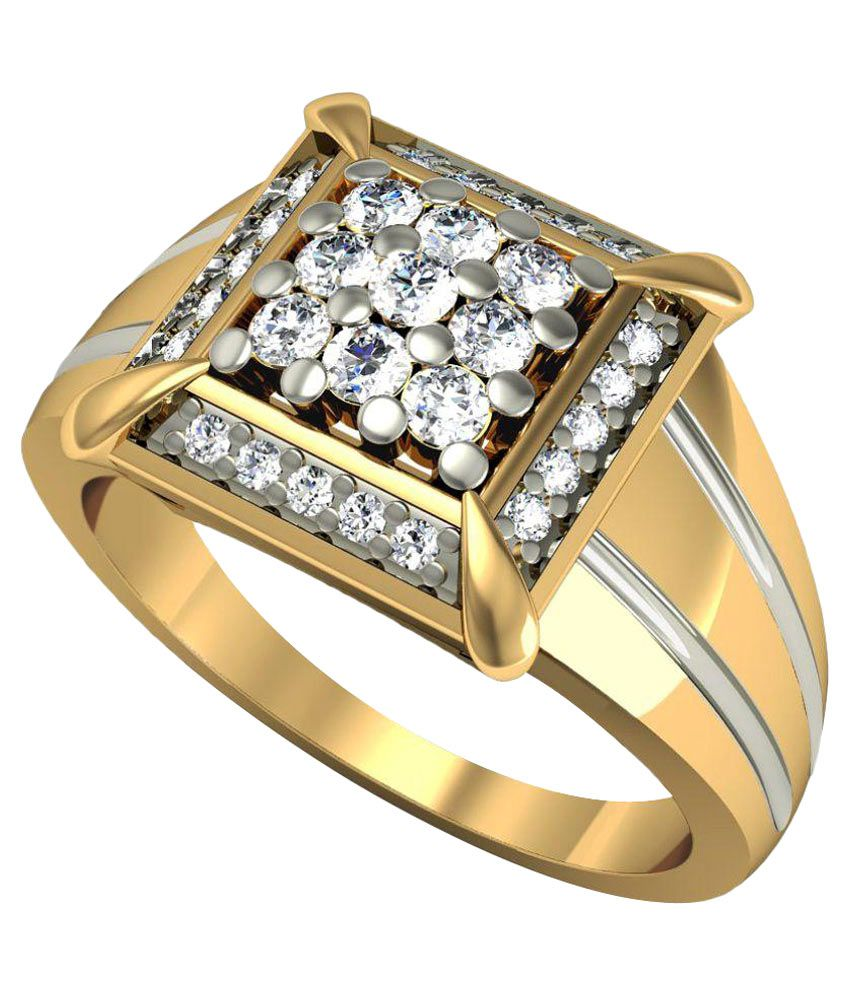 Rasav Jewels 14kt Gold Self Certified Traditional Ring