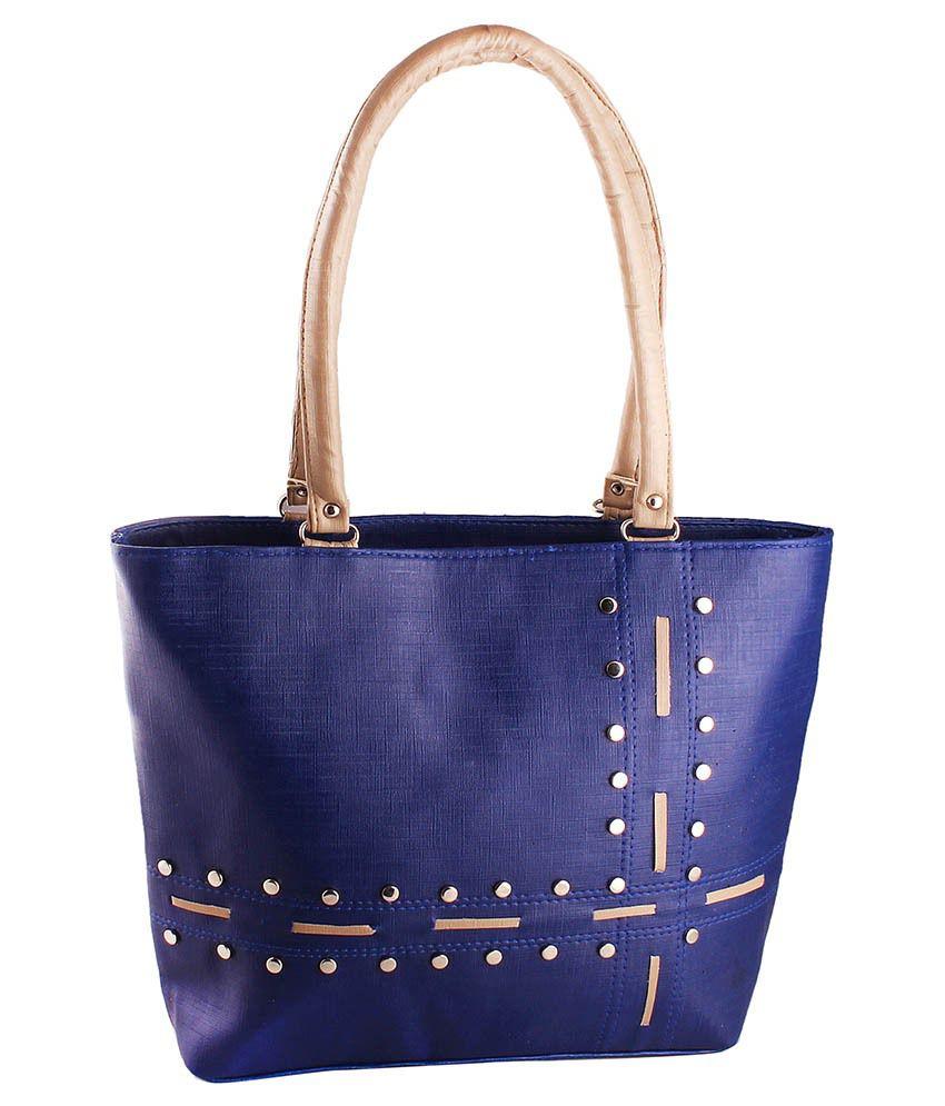 Bellina Navy Synthetic Shoulder Bag