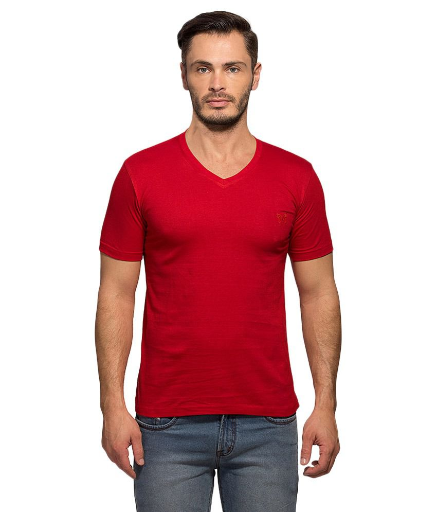 Maniac Red V-Neck T Shirt