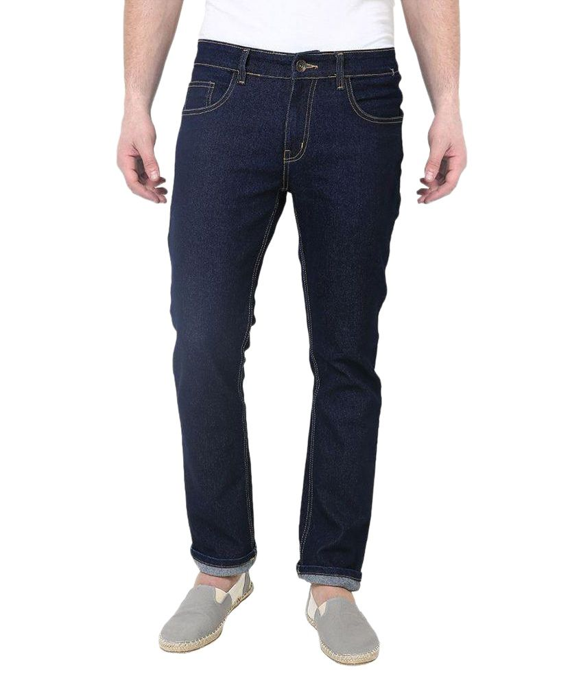 Masterly Weft Blue Regular Fit Solid Jeans