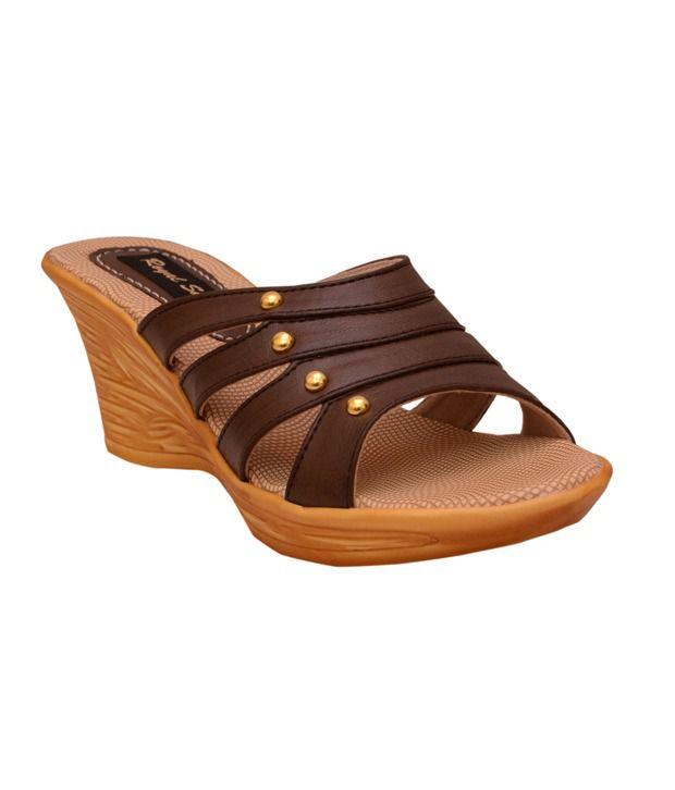 Royalshe Brown Wedges Heels