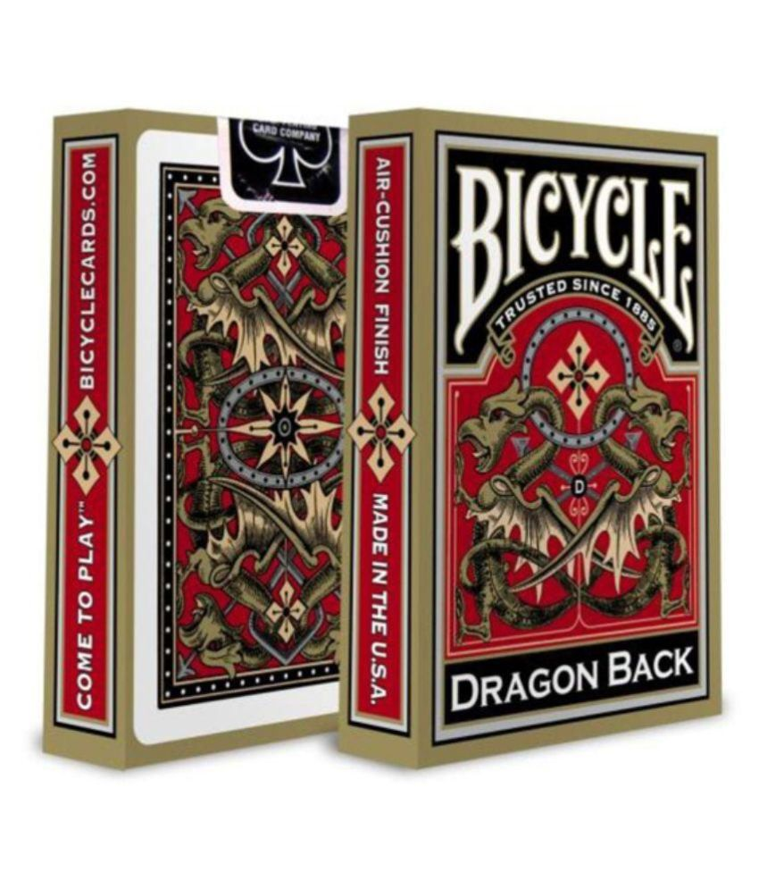 Bicycle Gold Dragon Back Playing Cards Golden Edition Poker Magic Deck