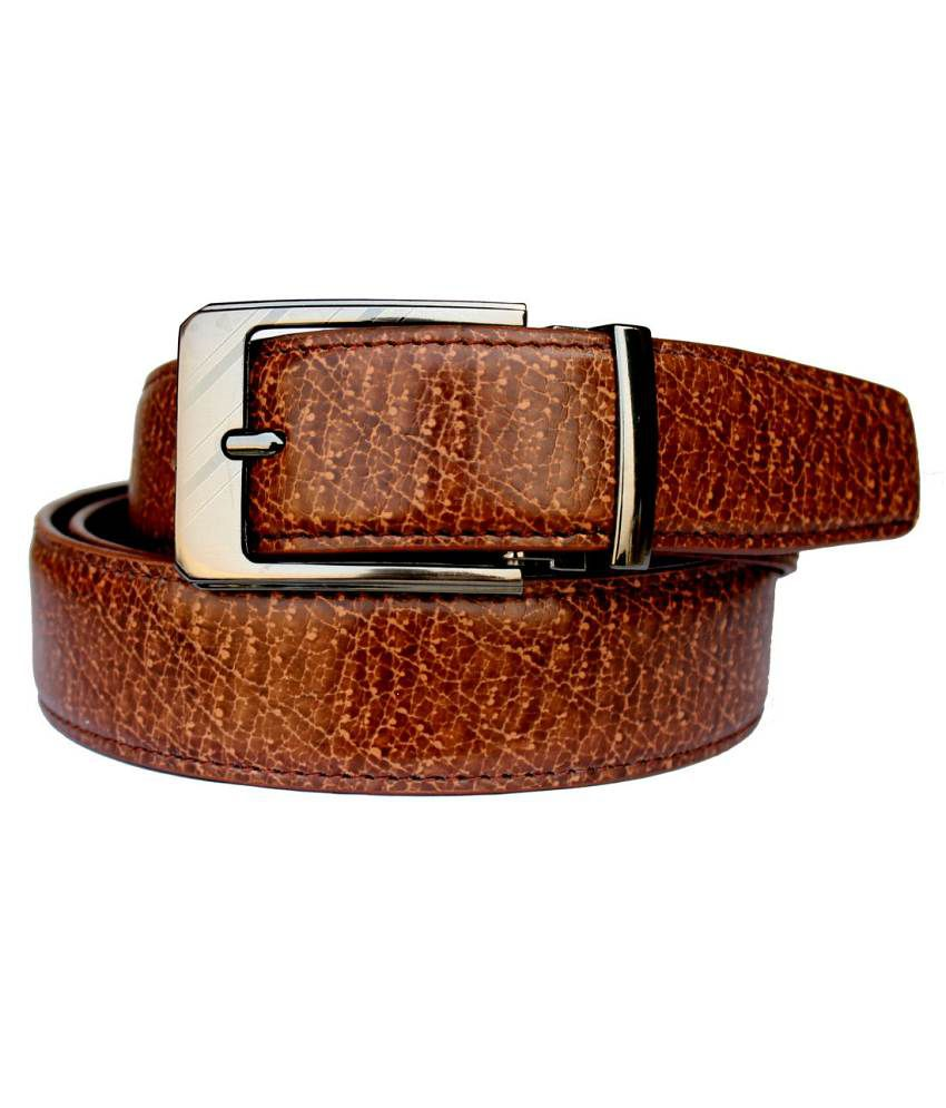 Discover Fashion Brown Leather Belt For Men