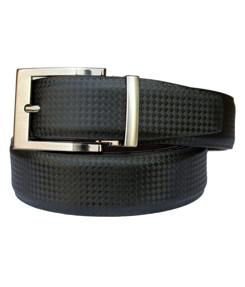 Discover Fashion Black PU Leather Belt