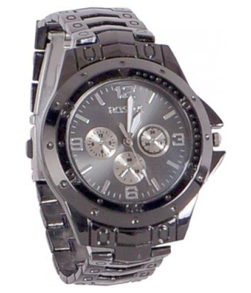 Rosra black analog wrist watch buy rosra black analog wrist watch online at best prices in for Rosra watches