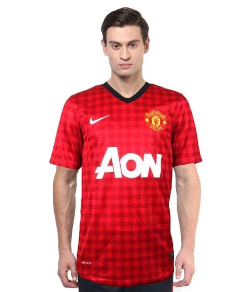 Nike Red V-Neck T Shirt
