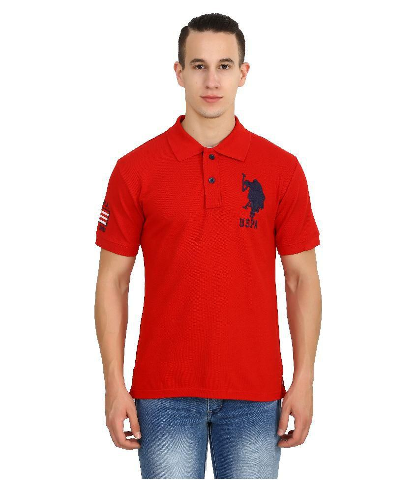 d986531b U.S. Polo Assn. Red Polo T Shirts - Buy U.S. Polo Assn. Red Polo T Shirts  Online at Low Price - Snapdeal.com