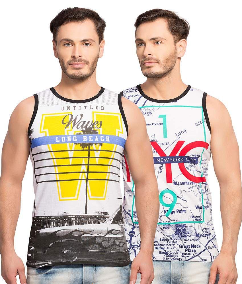 Maniac Multi Round T-Shirt Pack of 2