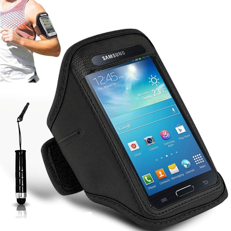 best service 8effe b4b66 N+ INDIA SAMSUNG GALAXY A5 Adjustable Armband Gym Running Jogging Sports  Case Cover Holder With Touch Stylus pen Black