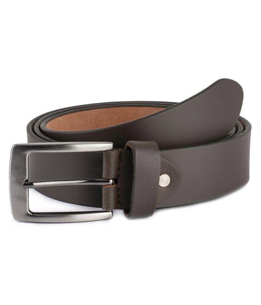 Daller Brown Leather Casual Belt for Men