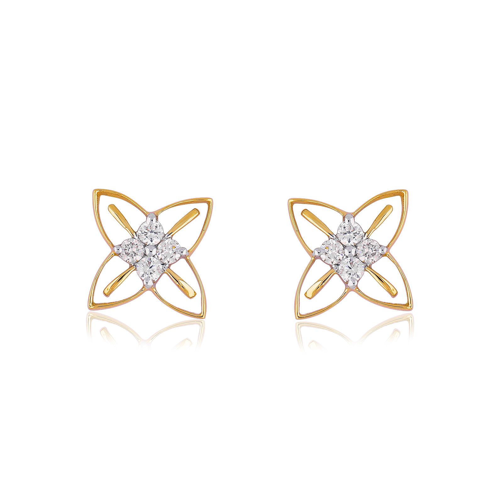 Jewels Choice 18kt Yellow Gold Stud Earrings