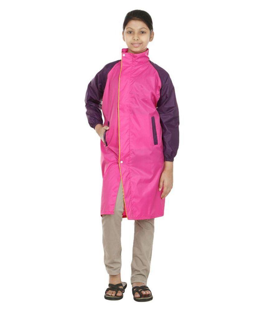 Rainfun Pink and Purple Long Raincoat