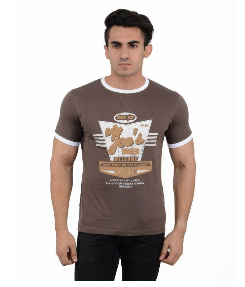 Black Sparrow Brown Round T Shirt