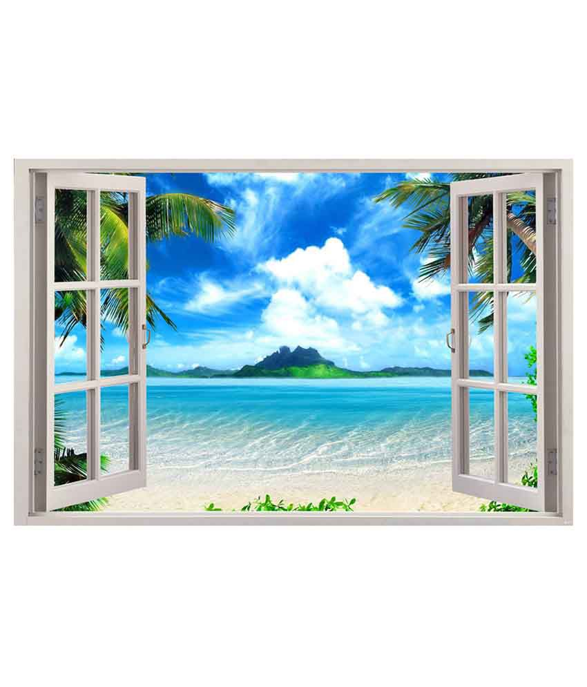 Indiashopers sea virtual window poster