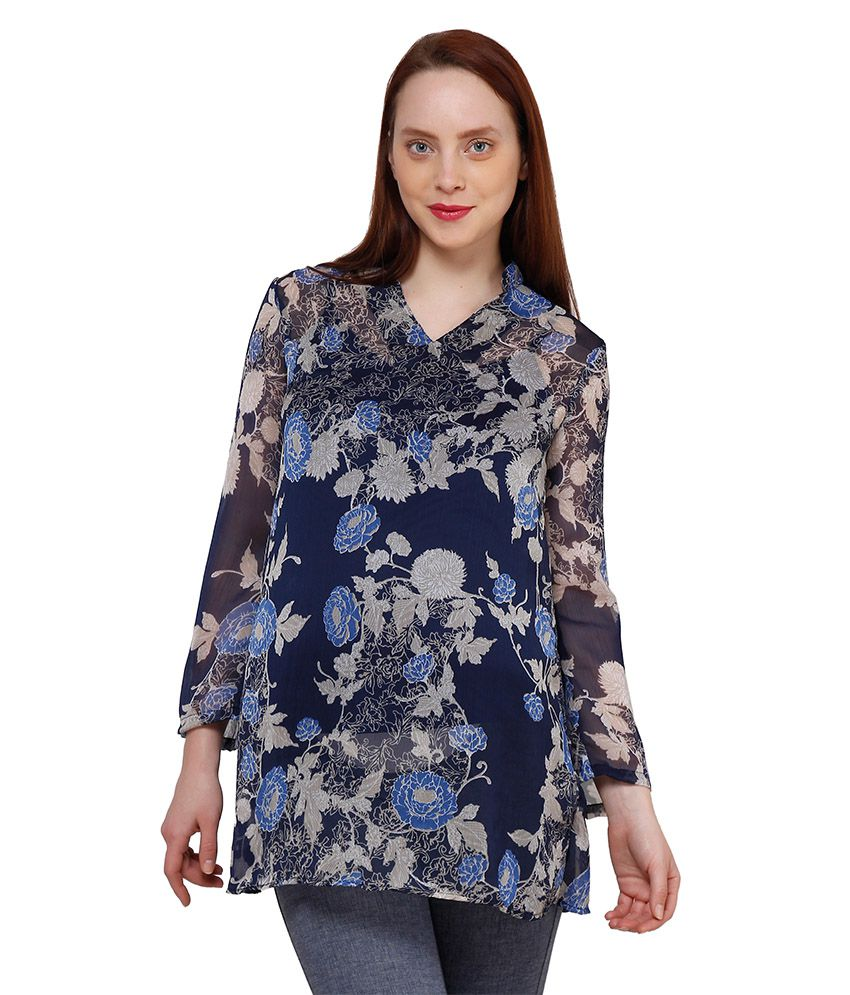 Oxolloxo Multi Color Polyester Tunics