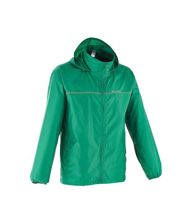 QUECHUA Rain-Cut Zip Men's Hiking Rain Jacket