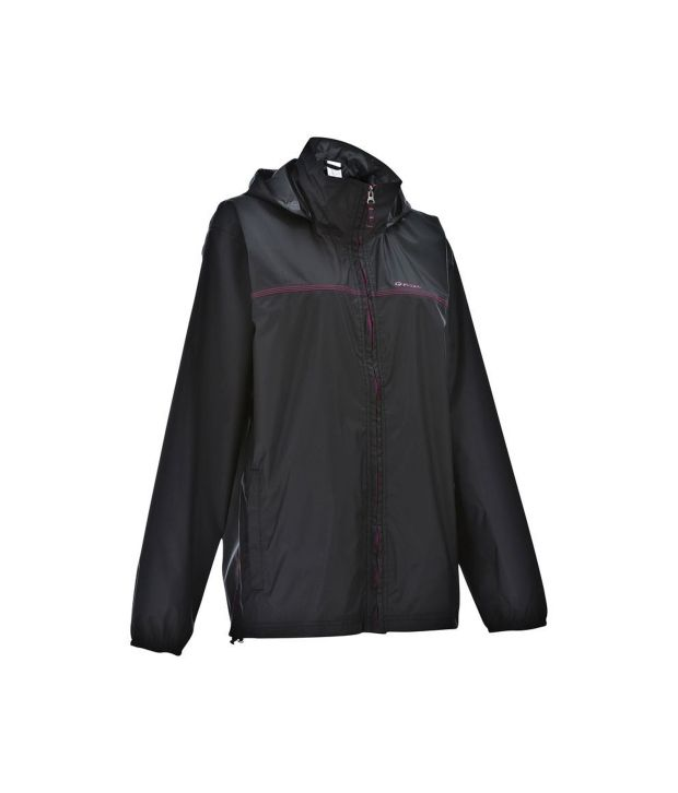 QUECHUA Rain-Cut Zip Women's Hiking Rain Jacket